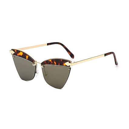 GUO Las Gafas de Sol Retro Metal Tendencia Personalidad ...