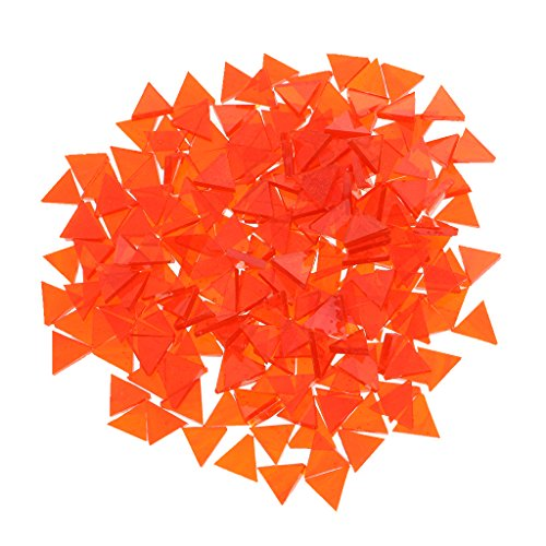 - MonkeyJack Bulk Geometry Clear Glass Mosaic Tiles Pieces for DIY Hobbies Art Craft Material Accessories Multi Style to Choose - tangerine, 10mm x 10mm rhombus