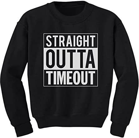 Straight Outta Timeout Funny Toddler Hoodie Children/'s