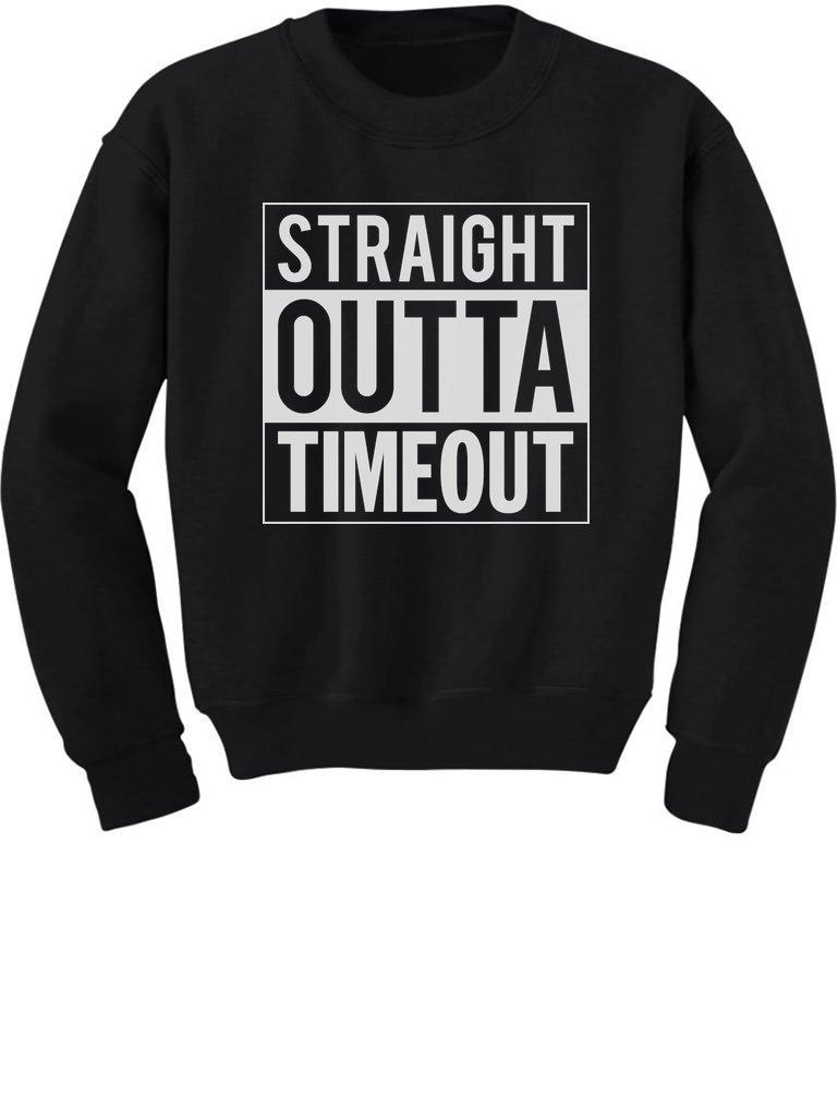 TeeStars - Straight Outta Timeout Funny Toddler/Kids Sweatshirts GhPhllMgf5