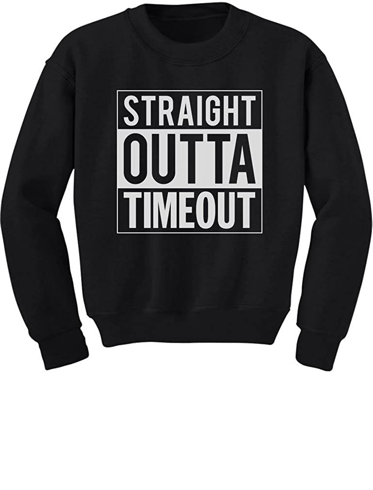 TeeStars - Straight Outta Timeout Funny Toddler/Kids Sweatshirts 4T Black GhPhllMgf5Plf59ho