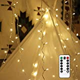 EShing LED Dimmable String Lights, 100 LEDs USB Powered Fairy Starry Twinkle Lights 33ft 8 Modes Wedding Party Home Patio Lawn Garden Bedroom Outdoor Indoor (Warm White)