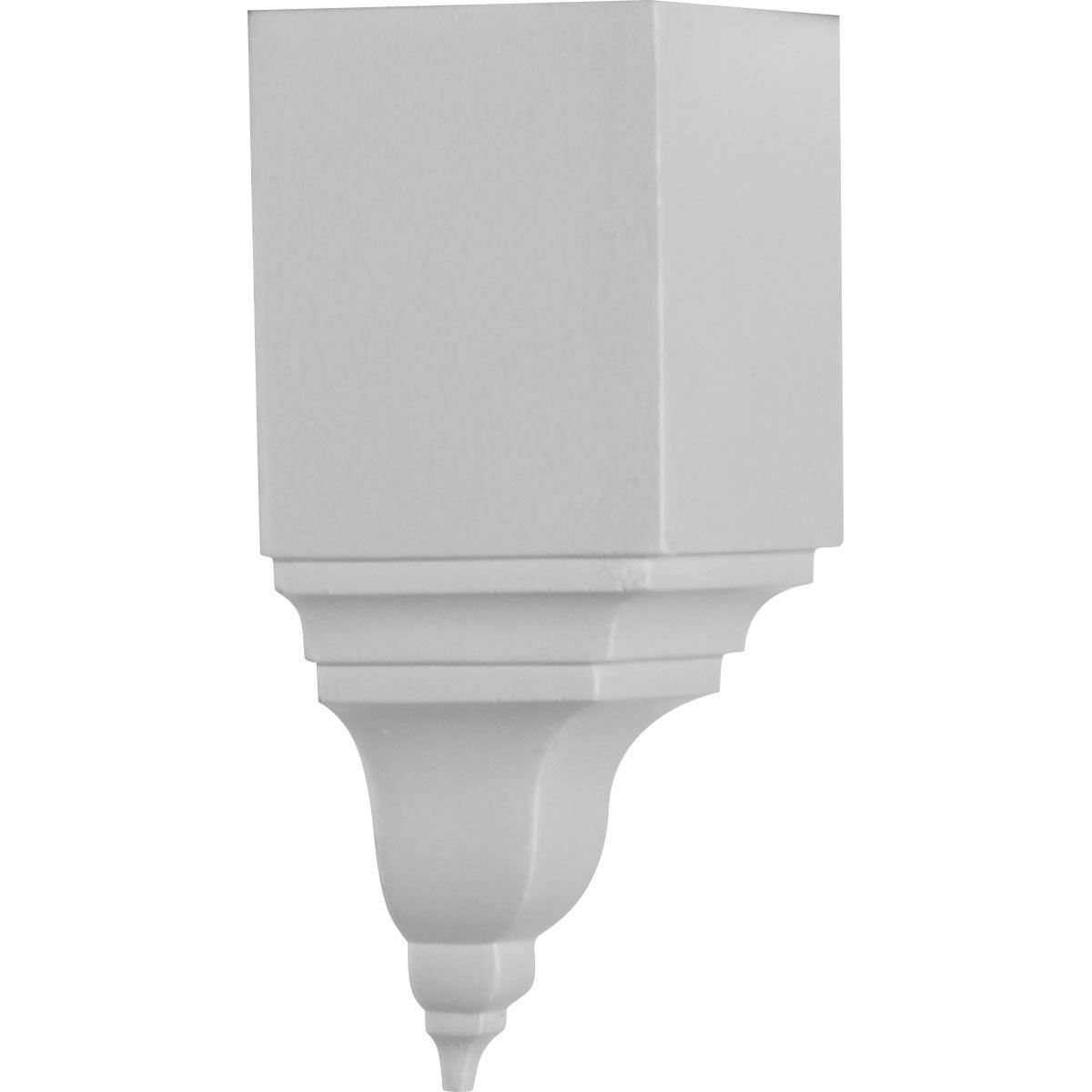 Ekena Millwork MIC03X03BI  3 1/8-Inch P x 7 3/4-Inch H Inside Corner for Molding Profiles Less Than 3 1/8-Inch P and 3 7/8-Inch H