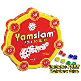 Yamslam Dice Game with FREE Rainbow Dice Pack!