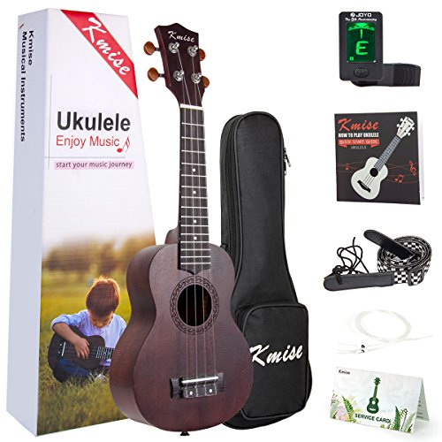 Ukulele Soprano Mahogany Ukelele Uke With Beginner Kit ( Ukele Gig Bag Tuner Strap String Instruction Booklet ) (21 Inch Special Offer) - Image 9