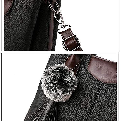 red Bag RFVBNM Women's Handbag Bag Color Black Versatile Fashion pu Unilateral Trend Tote qTnPgfpq