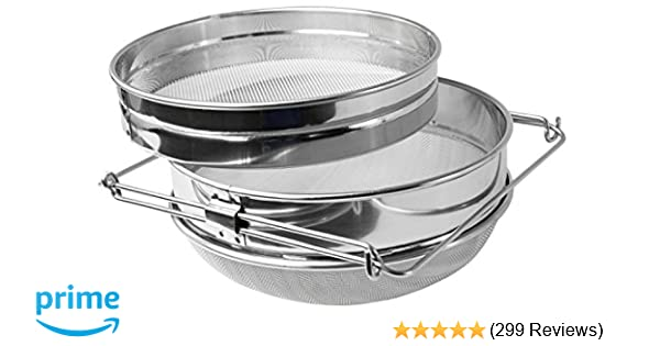b4ecb8f9db8 Amazon.com   VIVO Honey Strainer Double Sieve Stainless Steel Beekeeping  Equipment Filter (BEE-V101H)   Food Strainers   Garden   Outdoor