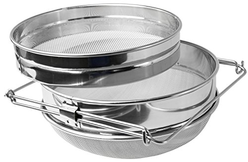 Knife Bucket (VIVO Honey Strainer Double Sieve Stainless Steel Bee Keeping Equipment Filter (BEE-V101H))