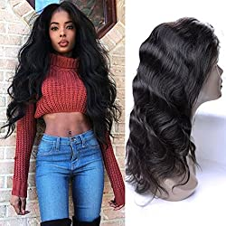 13X4 Lace Front Wig Brazilian Body Wave Glueless Short Curly Human Hair Wigs With Baby Hair Natrual Hairline Unprocessed Virgin Hair Extension Weave For Black Women Dark Brown 12 Inch