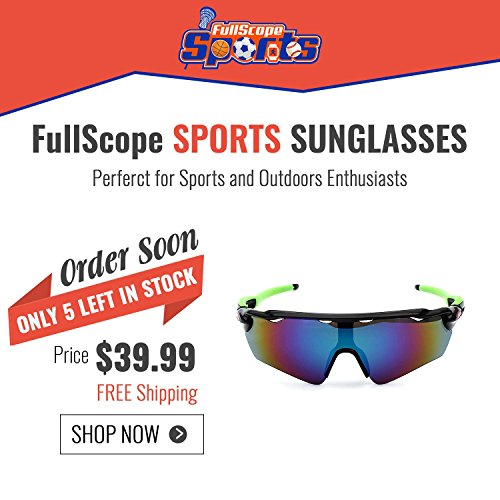 FullScope Sports Polarized Sunglasses With Interchangeable Lenses Cycling Running Driving Fishing - Sunglass Store Near Me
