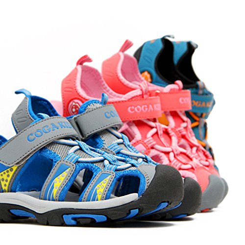 7a7bd160e63ab JACKSHIBO Girls Boys Summer Beach Breathable Athletic Closed-Toe Sandals  Kids(Toddler Little