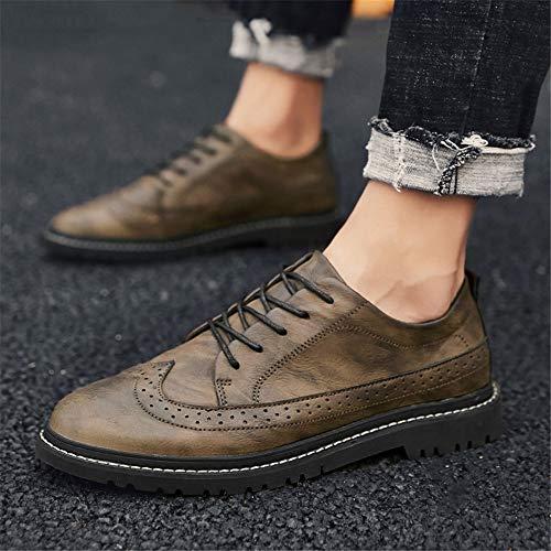 Fashion Da Marrone shoes 39 Basse Brogue Xujw Uomo Oxford Casual Dimensione Per Cachi Stringate 2018 color Traspirante Stile Eu Scarpe Classic Carving qvTxXFw