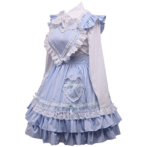 Aermel Partiss Suesses Frauen Layer Kleid Damen Lange Gotisches Multi Lolita Hellblau ww4BHx7q