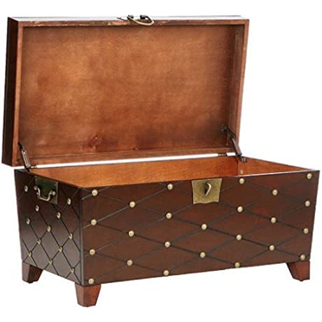 Ideal Home Coffee Table Trunk Espresso Table Trunk With Extra Large Storage Area Decorative Padlock Latch Durable Metal Hardware Add A Classic And Functional Piece To Your Living Room Or Den