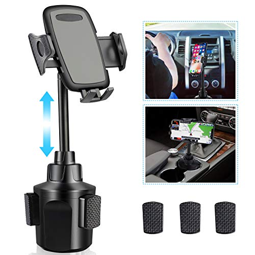 Car Cup Holder Phone Mount,Upgraded Phone Holder for Car, Automobile Adjustable Smart Cell Phone Cradle Car Mount for…