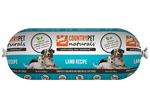 CountryPet Naturals Pasteurized Frozen Dog Food (24 lbs Total, 16 Rolls each 1.5 lbs) – Variety of Flavors – Natural Ingredients with Added Vitamins & Minerals – Made in New Zealand