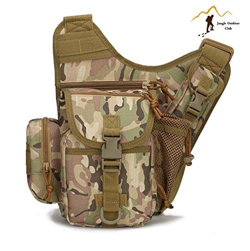 Jungle Oxford Small Saddle Bag Satteltasche Schultertasche Kamera Tasche MOLLE TACTICAL Taschen Wild Tasche Wandern Klettern Radfahren BBQ Runner Rucksack tragbar, CP Camouflage