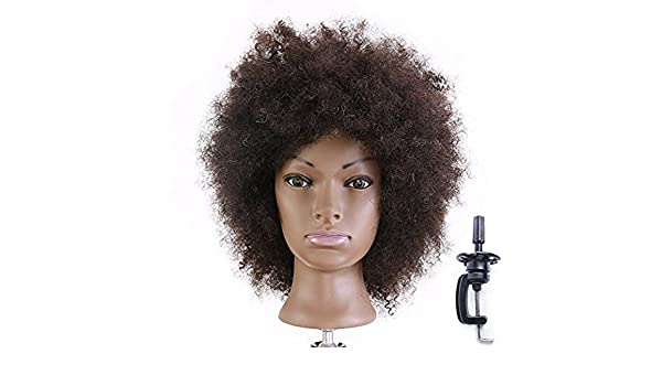 Amazon.com : Manikin Head Cabeza Manikins Para Peluca Cabello Pelo Profesional Afro Mannequin Head 100% : Everything Else