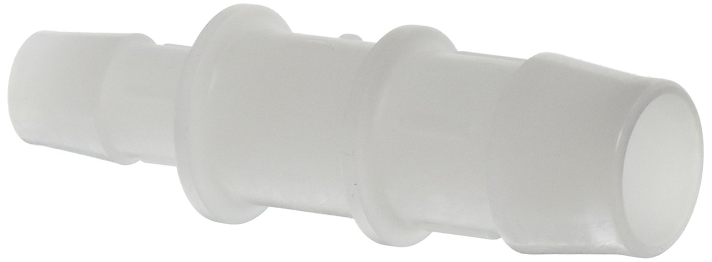Eldon James C12-8NK Natural Kynar Reduction Coupler, 3/4 Hose Barb to 1/2 Hose Barb (Pack of 10)