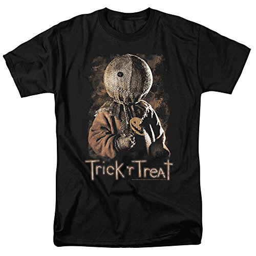 Trick 'r Treat Movie Sam with Sucker T Shirt & Stickers (Large) Black