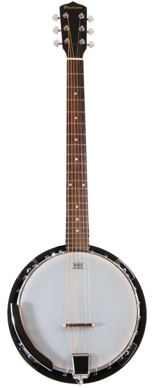 6 String Banjo Guitar with Closed Back Resonator and 24 Brackets Jameson Guitars