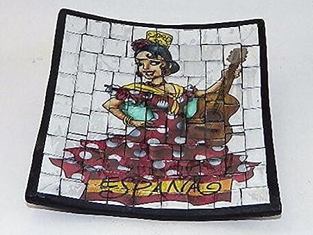 Centro de mesa vacía bolsillo Flamenco España de cerámica, diseño de bailarina: Amazon.es: Hogar