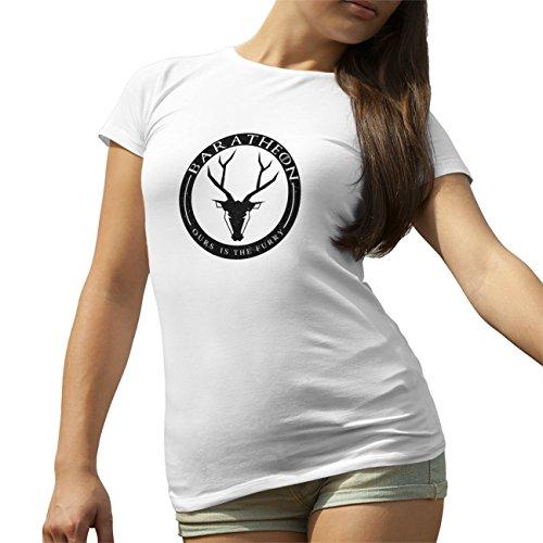 Baratheon Badge Game Of Thrones T-Shirt camiseta para la Mujer Blanca