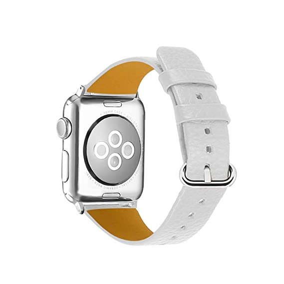 Amazon.com : XBKPLO Compatible for Apple Watch Band 38mm 40mm, Series 4 Solid Color Leather Strap Women Series 3/2/1 Replacement Cuff Bracelet : Pet ...