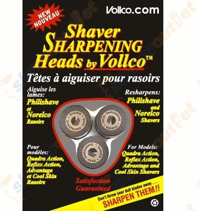 Vollco Sharpening Heads VSH-2 Black – Sharpens All Philips/Norelco Shavers Using These Replacement Heads: HQ-167, HQ-5, HQ-55, HQ-56, HQ-6 & HQ-8
