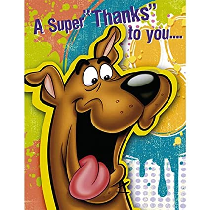 Factory Card And Party Outlet Scooby Doo Thank You Notes 8ct