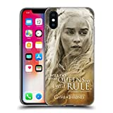 Official HBO Game Of Thrones Daenerys Targaryen Character Portraits Soft Gel Case for Apple iPhone X