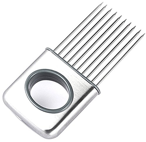 CJESLNA Easy Onion Holder Slicer Vegetable tools Tomato Cutter Stainless Steel Kitchen (Easy Slicer)