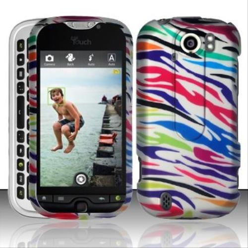 (Rubberized Colorful Zebra Design for HTC HTC myTouch Slide 4G)