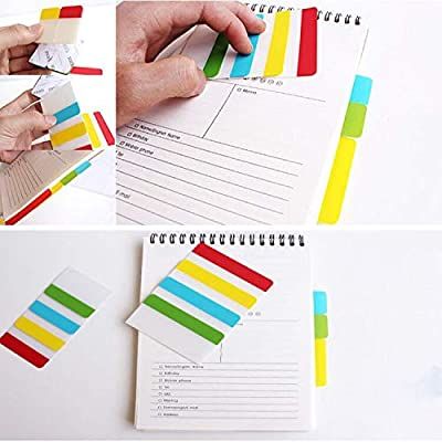 800pcs Index Tabs, 2 inch Tabs, Colored Sticky Page Markers and Notes, Tape Flag Dispensers for Reading Notes, Books and File Folders. (Assorted Colors)