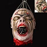 Cherry Juilt Severed Head Halloween Decorations Cut off Corpse Head Hanging Props Bloody Gory Latex Zombie Zombie Decoration
