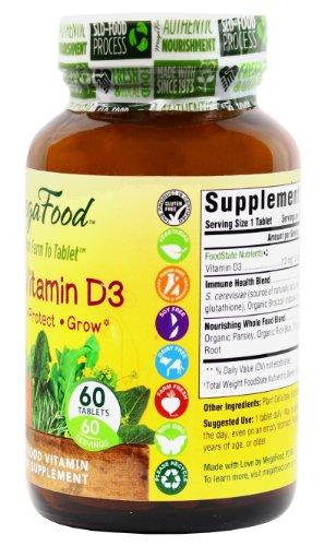 MegaFood Kid's Vitamin D3 Tablets, 60 Count (Premium Packaging)