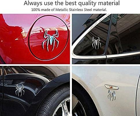 3D Spider Metal Logo Emblems Badges Decal for Auto Vehicle Car Motorcycle Decor Gold HaloVa Car Sticker