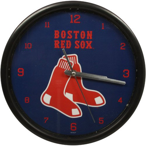 (The Memory Company MLB Boston Red Sox Official Black Rim Basic Clock, Multicolor, One Size)