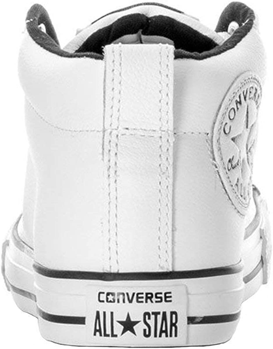 Converse Boys Kids Chuck Taylor All Star Street Mid Top Leather Fashion Sneaker Shoe