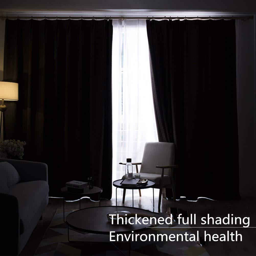 WWBB WWBB WWBB Vorhänge,Einfache Moderne Nordische schwarzout vorhänge,Schlafzimmer Wohnzimmer Balkon Rollo gardinen,Sonnenschutz gardinen-Beige 200x270cm(79x106inch) VersionA B07MR7YJ77 Vorhnge 1e785a