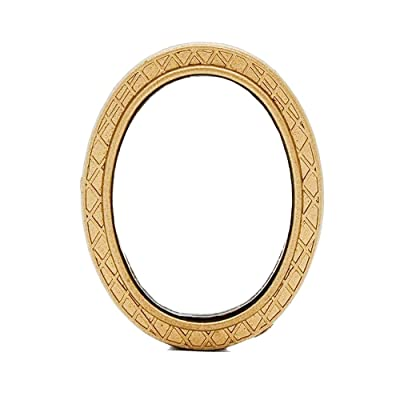 Odoria 1:12 Miniature Oval Wall Mirror Gold Frame Dollhouse Decoration Accessories: Toys & Games