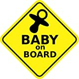 """4.5"""" x 4.5"""" Baby on Board Sign Bumper Sticker Decal Car Window Stickers Decals"""