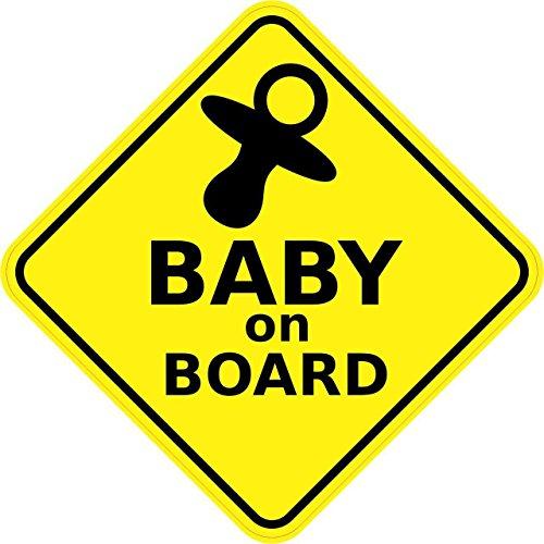 Autocollant en vinyle, autocollant de sécurité de 12,7 x 12,7cm, «Baby on Board» par Stickertalk® outlet