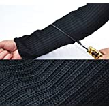 Nasin One Pair Steel Wire Safety Anti-cutting Arm Sleeves Cut-resistant Armband Labor Protection Self- defense Arm Guard Protection Gardening Work Outdoor Camping Tourism Protection Tool