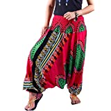 Villas - Dashiki Collection- 2 in 1 Harem Pants Hippie Boho Gypsy Beach Trousers Jumpsuit