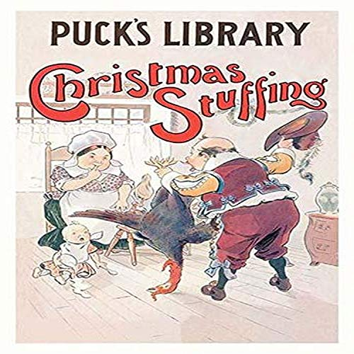 Christmas Illustration for the Pucks Library magazine showing a man presenting his fmaily a turkey Poster Print by LM Glackens (18 x 24) (Magazine Puck Christmas)