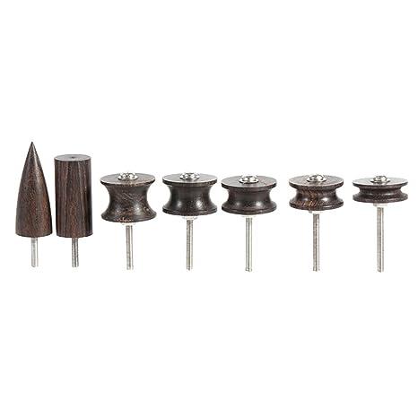 Kuchen Form Multi-Size Burnisher Kantenpolierer Werkzeug-set f/ür DIY Leder arbeiten Round + Flat + Cake Flache Runde 3 St/ücke Holz Leder Rand Slicker Kit