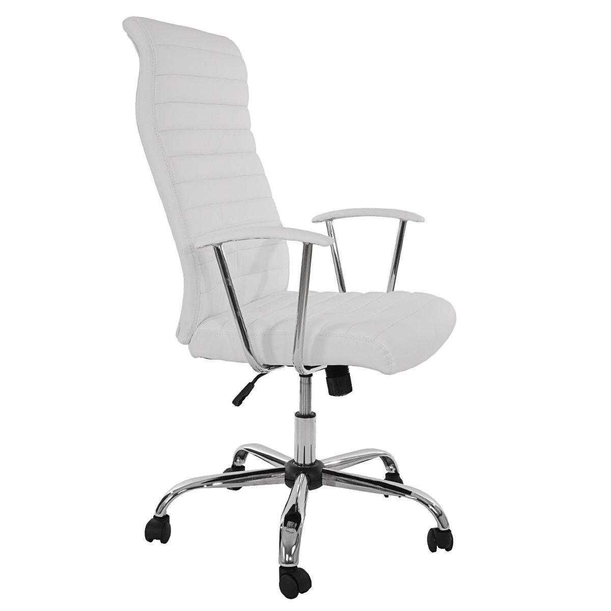 Ergonomischer bürostuhl weiß  Bürostuhl Drehstuhl Chefsessel Cagliari, ergonomische Form ~ weiß ...