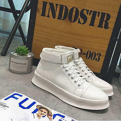 Shukun Herren Stiefel Winter Cotton High Schuhe Männer dicken Boden Boden Boden erhöht Casual Martin Stiefel Herren Nacht Feld Schuhe Schuhe Friseur Schuhe zu helfen dda207
