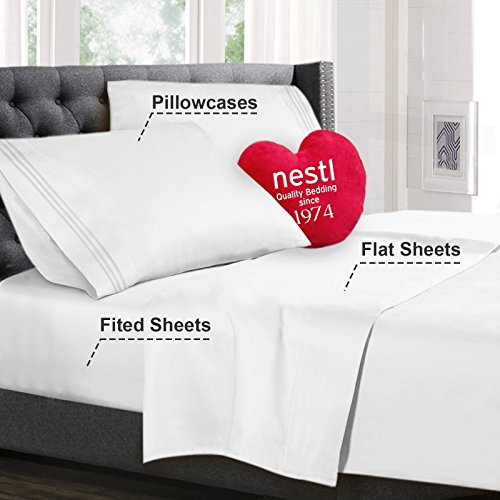 Nestl Bedding Queen Size Bed Sheets list Pillowcase Sets